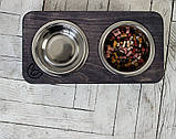КІТ-ПЕС by smartwood Миски на подставке | Миска-кормушка металлическая для собак щенков  XS - 2 миски, фото 4