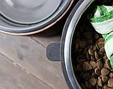 КІТ-ПЕС by smartwood Мискa на подставке | Миска-кормушка металлическая для собак щенков - 1 миска 4500 мл, фото 5