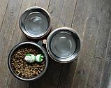 КІТ-ПЕС by smartwood Мискa на подставке | Миска-кормушка металлическая для собак щенков - 1 миска 4500 мл, фото 8
