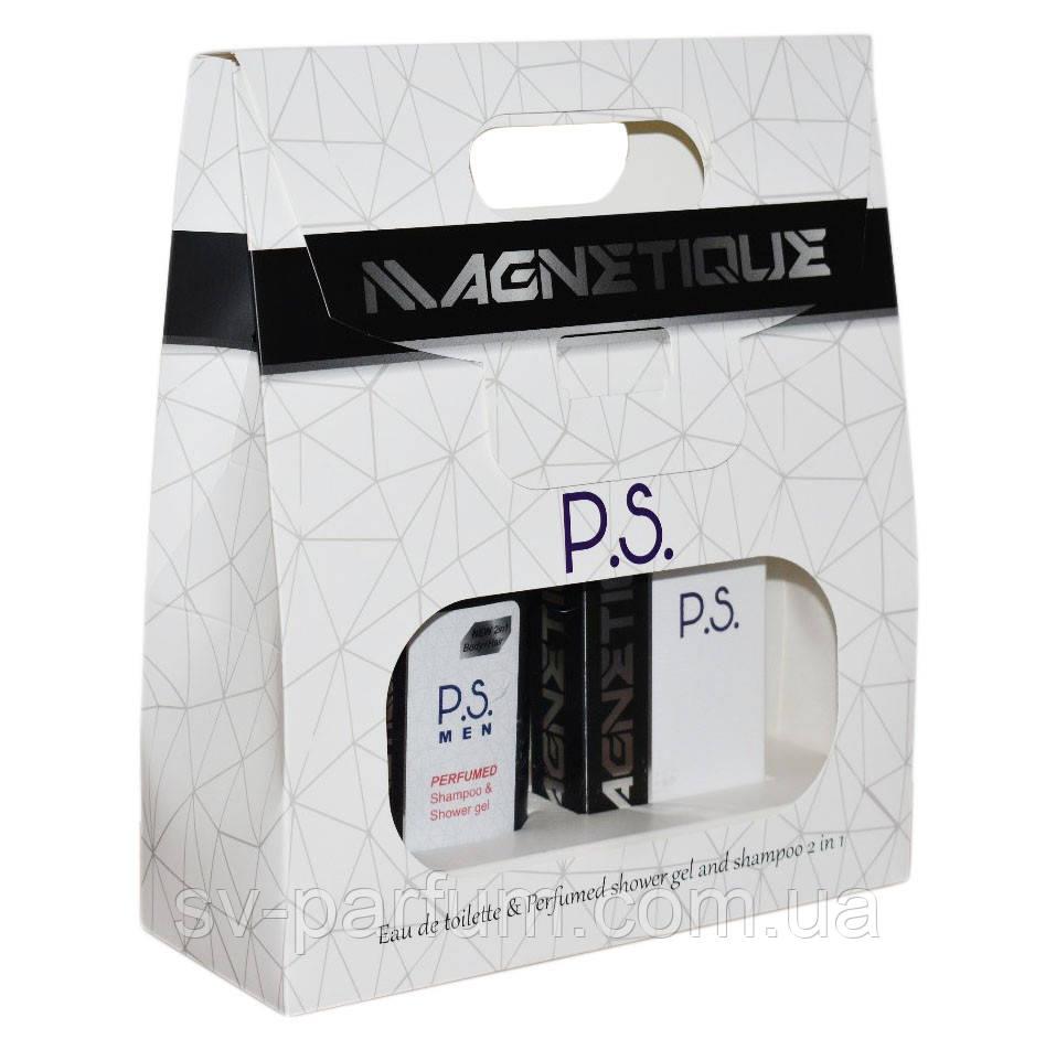 """Набор мужской Magnetique """"P.S."""" (т.в.+гель для душа 2в1)"""