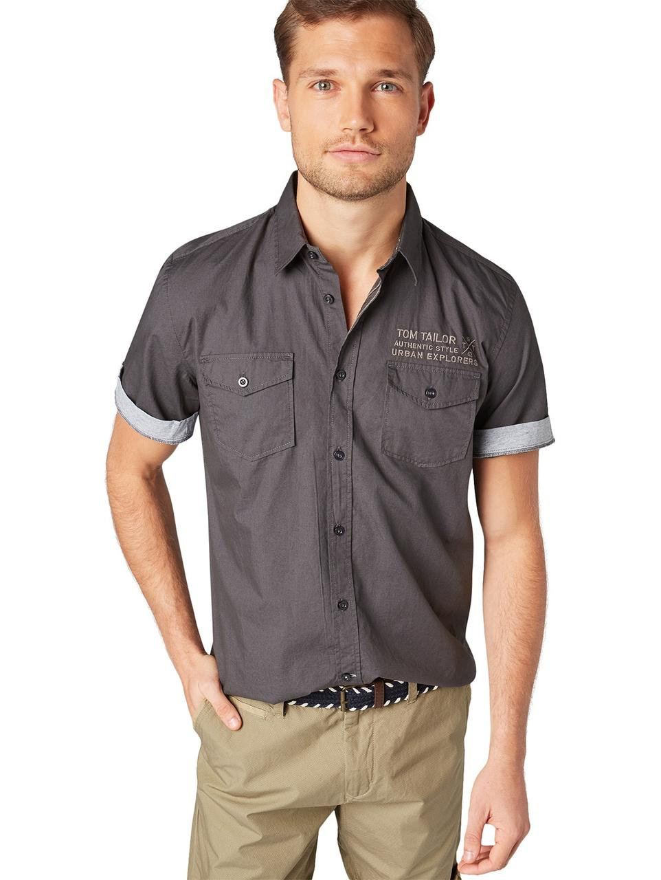 Рубашка Tom Tailor 1010078 M Серый