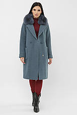 Пальто женское зимнее с меховым воротником, фото 3