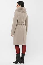 Пальто женское зимнее с меховым воротником, фото 2