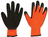 Перчатки оранжевые со вспененным покрытием