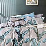 Полуторный комплект постельного белья с простынью на резинке 150*220см. Постельное белье с фланели, фото 4