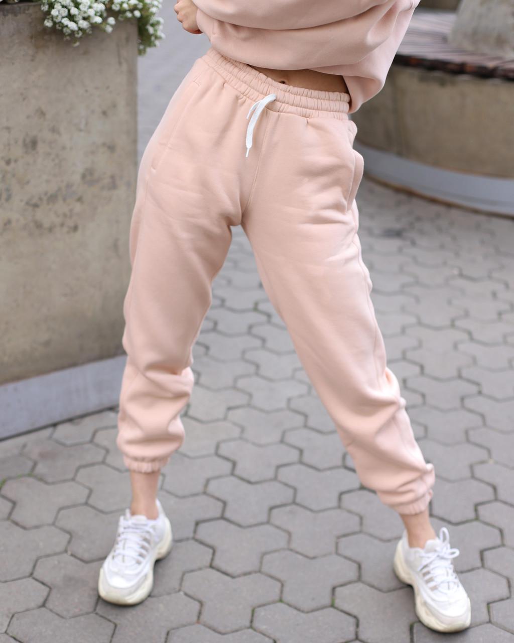 Зимнее спортивные штаны женские бежевые Эми от бренда ТУР  размер: XS, S, M L