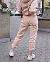 Зимнее спортивные штаны женские бежевые Эми от бренда ТУР  размер: XS, S, M L, фото 3