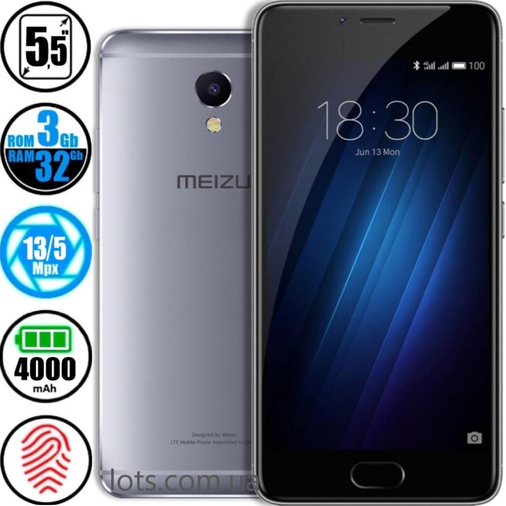 Смартфон Meizu M5 Note (3/32GB) Grey + Подарок Защитное Стекло