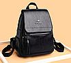 Рюкзак женский кожаный Hefan Daishu Backpack Черный, фото 4