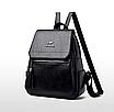 Рюкзак женский кожаный Hefan Daishu Backpack Черный, фото 2