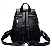 Рюкзак женский кожаный Hefan Daishu Backpack Черный, фото 5