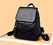 Рюкзак женский кожаный Hefan Daishu Backpack Черный, фото 3
