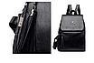 Рюкзак женский кожаный Hefan Daishu Backpack Черный, фото 6