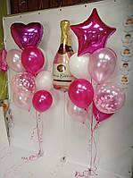"""Готовий набір куль №17 """"рожеве шампанське"""""""