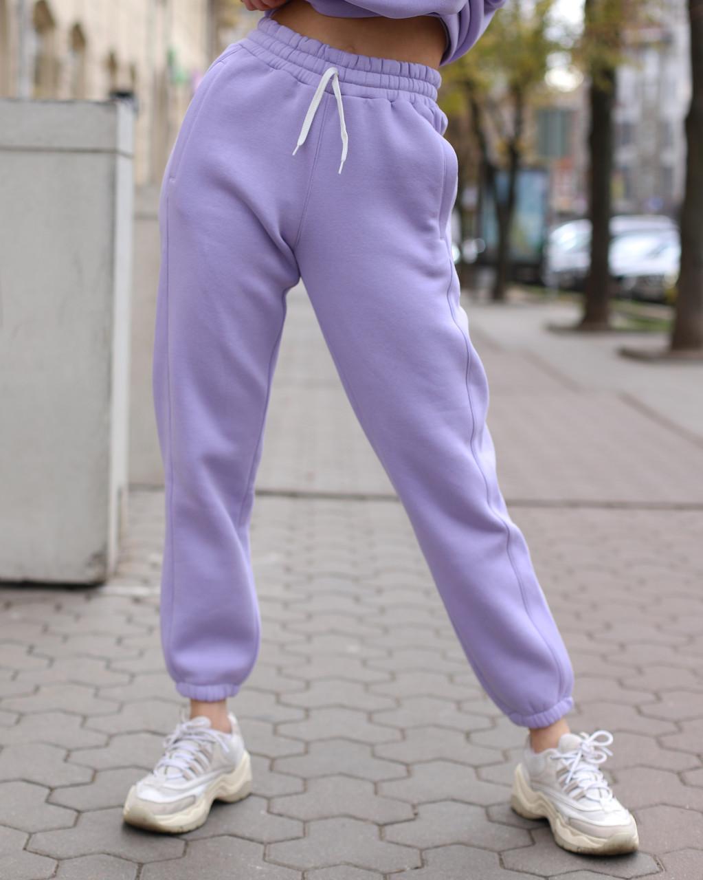 Зимнее спортивные штаны женские лиловые Эми от бренда ТУР  размер: XS, S, M L