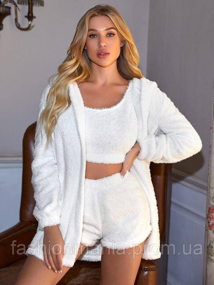 Пижама женская комплект махровый белый 42-44,46-48