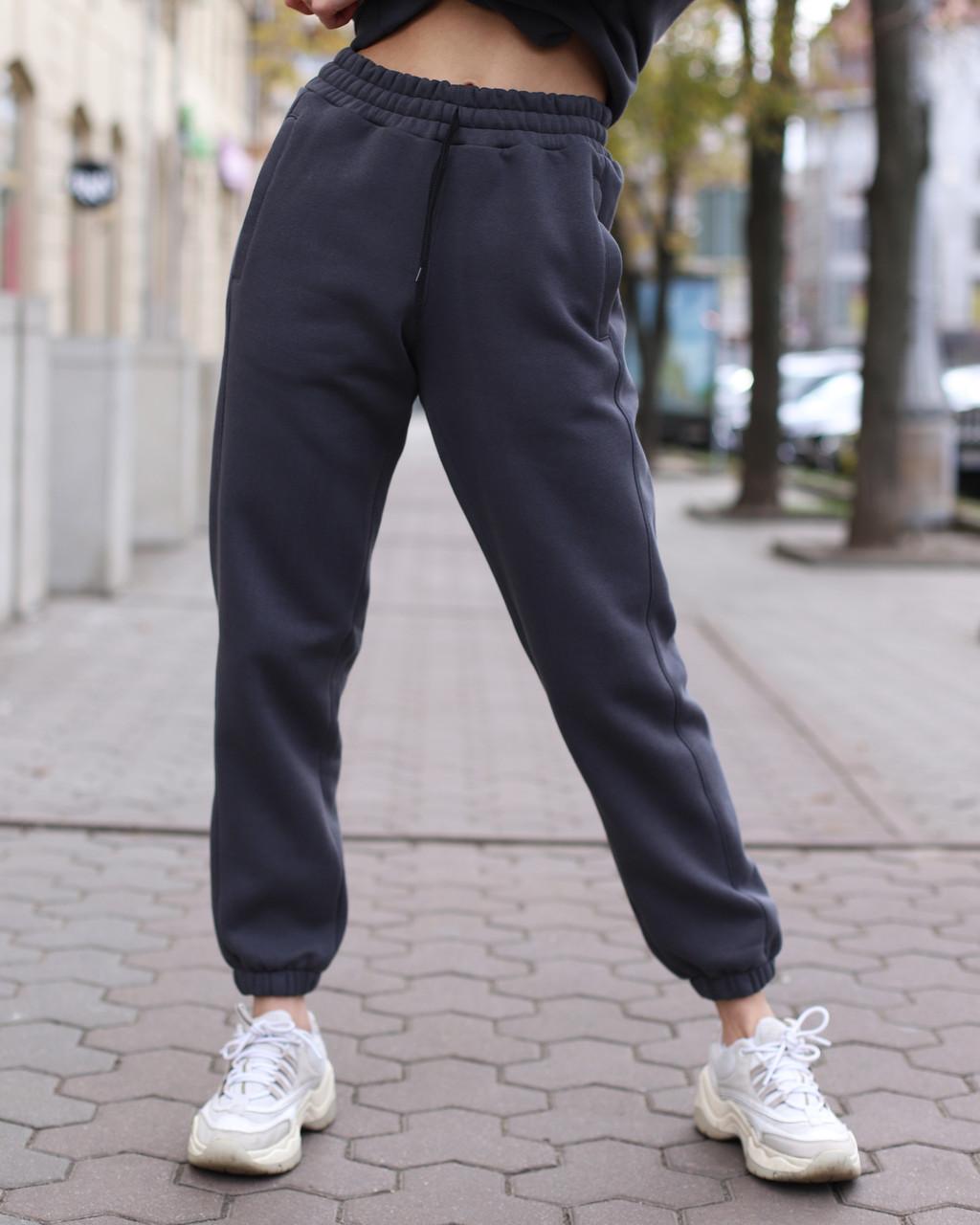 Зимнее спортивные штаны женские в цвете графит Эми от бренда ТУР  размер: XS, S, M L