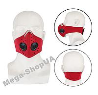 Спортивная маска респиратор с угольным фильтром многоразовая. Маска многоразовая. Маска для тренировок BC591R, фото 1