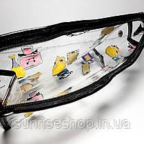 Косметичка прозрачная силиконовая купить оптом, фото 3