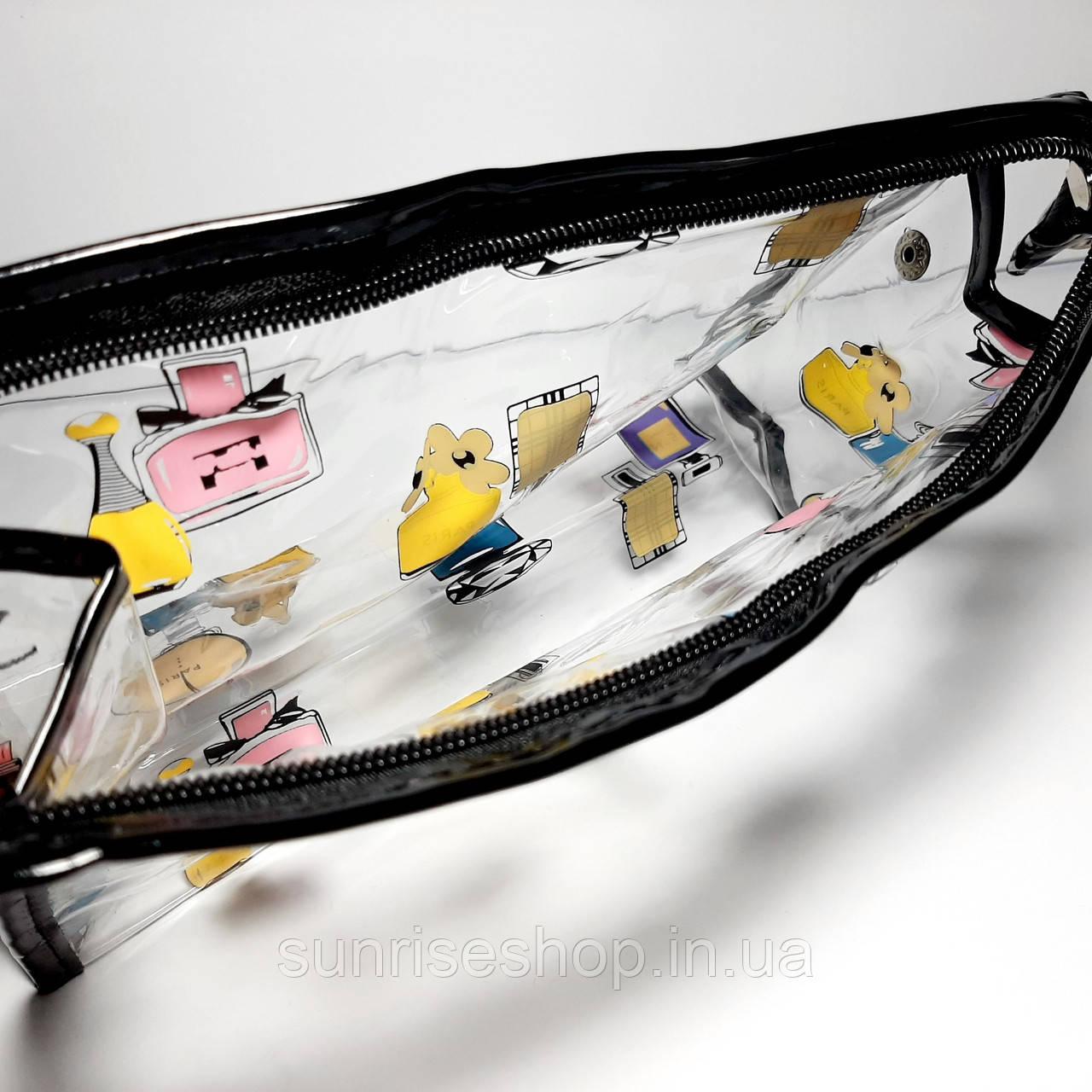 Косметичка прозрачная силиконовая купить оптом - фото 4