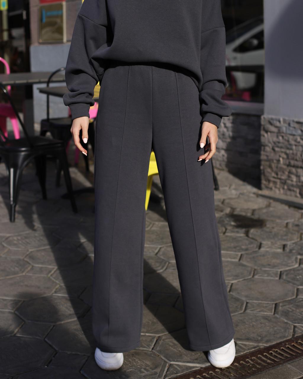 Зимнее спортивные штаны женские в цвете графит Джин от бренда ТУР  размер:  S- M