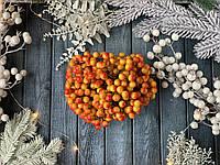 Глянцеві ягоди (калина) 400 шт/уп. 1 см , жовто-червоного кольору оптом НГ, фото 1