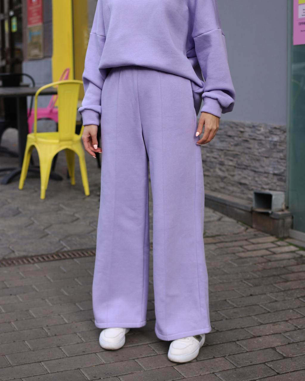 Зимнее спортивные штаны женские лиловые Джин от бренда ТУР  размер: S-M