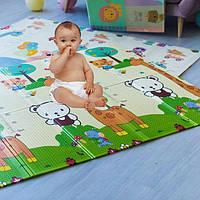 """Детский коврик для ползания складной """"Зоопарк"""" (термоковрик) 150*180*0.8 см (205)"""