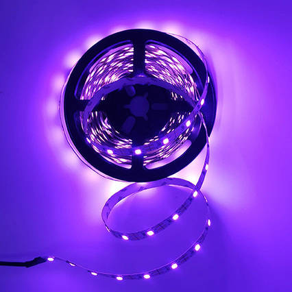 Светодиодная Фиолетовый LED 5v/В лента SMD 2835