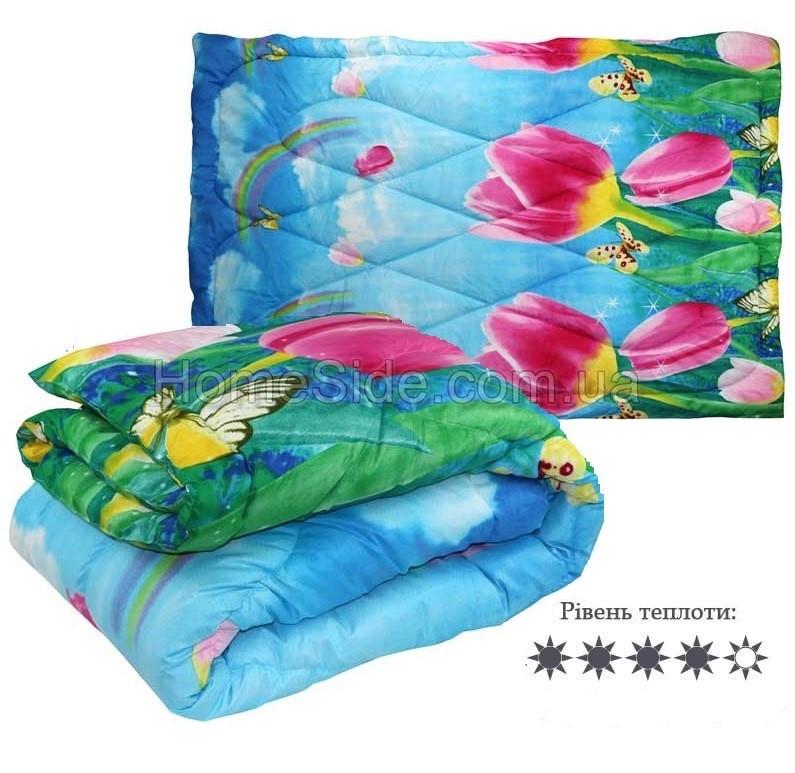 Одеяло зимнее  140x205 полуторное 300 г/м2 Тюльпаны 321.52СЛБ