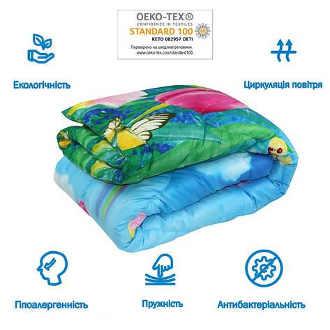 Одеяло зимнее  140x205 полуторное 300 г/м2 Тюльпаны 321.52СЛБ, фото 2