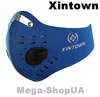Спортивная маска респиратор с угольным фильтром многоразовая. Маска многоразовая. Маска для тренировок WA058BB, фото 1