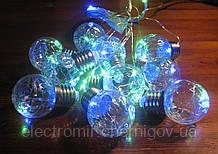 Гирлянда-штора с шариками-лампочками CL-19
