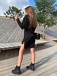 Платье -туника теплое на флисе Размеры 42-44, 46-48; Цвета: чёрный, серый, фото 4