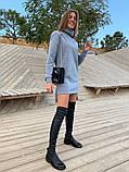 Платье -туника теплое на флисе Размеры 42-44, 46-48; Цвета: чёрный, серый, фото 7