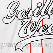 Бейсбольная футболка Gorilla Wear 82 Jersey XL, XXL белая, фото 3
