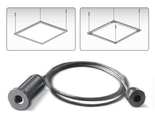 Комплект крепления для подвески светодиодных панелей (Трос) VL-PFT 24322