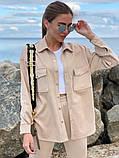 Женский  повседневный костюм . Размеры 42-44,46-48 Цвета: беж, серый, электрик, фото 2