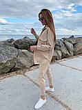 Женский  повседневный костюм . Размеры 42-44,46-48 Цвета: беж, серый, электрик, фото 4