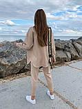 Женский  повседневный костюм . Размеры 42-44,46-48 Цвета: беж, серый, электрик, фото 5