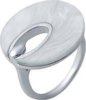 Серебряное кольцо SilverBreeze с натуральным перламутром (2038818) 17.5 размер, фото 1