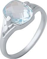 Серебряное кольцо SilverBreeze с натуральным топазом (2042488) 17.5 размер, фото 1