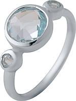 Серебряное кольцо SilverBreeze с натуральным топазом (2042501) 18 размер, фото 1