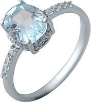 Серебряное кольцо SilverBreeze с натуральным топазом (2042808) 18 размер, фото 1