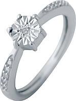 Серебряное кольцо SilverBreeze с натуральными бриллиантом (2043645) 16 размер, фото 1