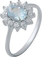 Серебряное кольцо SilverBreeze с натуральным топазом (2042969) 17.5 размер, фото 1