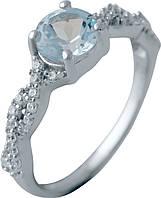 Серебряное кольцо SilverBreeze с натуральным топазом (2042853) 17 размер, фото 1