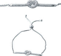 Серебряный браслет SilverBreeze с фианитами (2038320) Регулируемый размер, фото 1