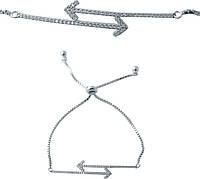 Серебряный браслет SilverBreeze с фианитами (2038290) Регулируемый размер, фото 1