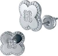 Серебряные серьги SilverBreeze с фианитами (2038139), фото 1
